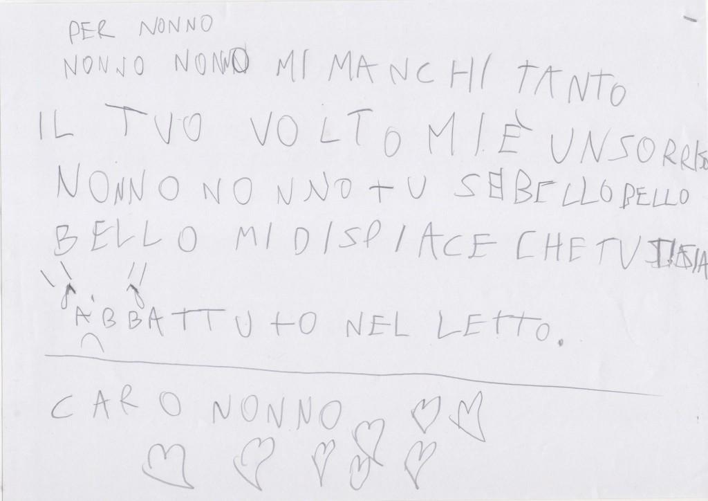 Lettera A Nonno Giancarlo